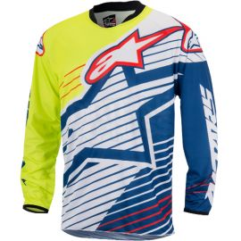 Alpinestars Racer Braap Jersey (Yellow Flou White Dark Blue )-L
