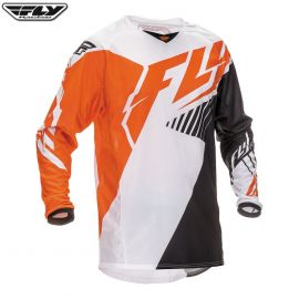 Fly 2016 Kinetic Adult Jersey Vector Orange/Black/White Size Medium