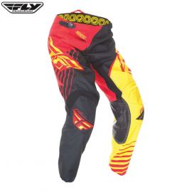 Fly 2016 Kinetic Adult Pant Vector Red/Yellow/Black Size 38