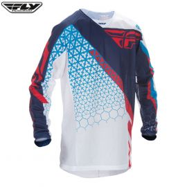 Fly 2016.5 Kinetic Mesh Adult Jersey Trifecta Red/White/Blue Size Large