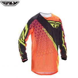 Fly 2016.5 Kinetic Mesh Adult Jersey Trifecta Flo Orange/Black