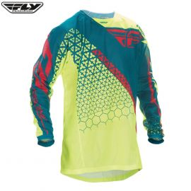 Fly 2016.5 Kinetic Mesh Adult Jersey Trifecta Hi-Viz/Teal Size Large