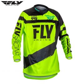 Fly 2018 F-16 Adult Jersey (Black/Hi-Viz) Size Small