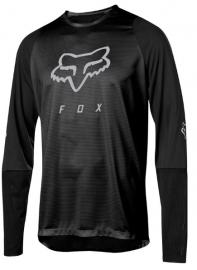 Defend Long Sleeve Fox Head Jersey (Black)