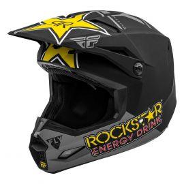 Fly 2020 Kinetic Rockstar Helmet (Matte Grey/Black/Yellow)