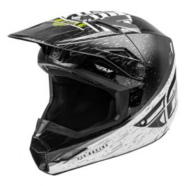 Fly 2020 Kinetic K120 Youth Helmet (Black/White/Hi-Vis)