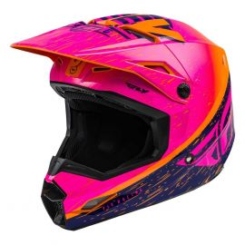 Fly 2020 Kinetic K120 Youth Helmet (Orange/Pink/Black)