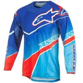 Alpinestars Techstar Jersey - Venom Blue Cyan Red-L