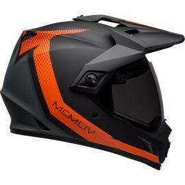 Bell Mx-9 Adventure Dualsport Helmet Swirchback Matte BlackK/Orange-XXL
