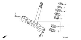 Bearing, Lower, Head Pipe [Neck], Honda CB500x