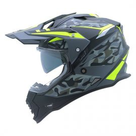 Yohe Dualsport Adventure Helmet (Matt Grey/Yellow)