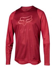 Defend Long Sleeve Fox Head Jersey (Red)