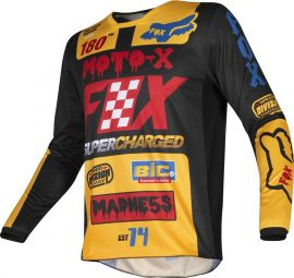 Fox 180 Czar Yellow MX Jersey