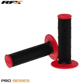 RFX Pro Series Dual Compound Grips (Black/Red) Pair