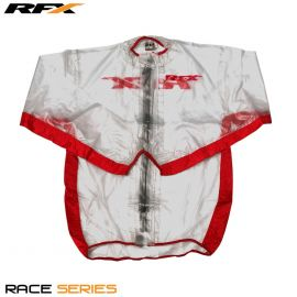 RFX Race Series Wet Jacket (Clear/Red)