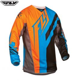 Fly 2015 Kinetic Adult Jersey Division Black/Blue/Orange Size 2XLarge