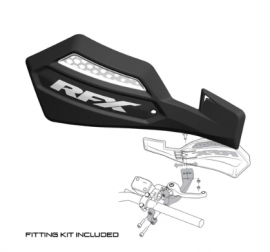 RFX 1 SERIES HANDGUARD (BLACK/WHITE) INC FITTING KIT