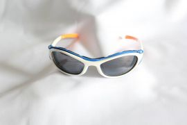 Gecko Series Sunglasses-White-Blue