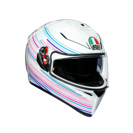 AGV K3 SV E2205 Multi-Sakura Pearl White/Purple-Small
