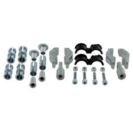 Rtech Adjustable Mounting Kit Handlebar 22-28mm Included 14/16/18mm Steel  Expanders (Silver)