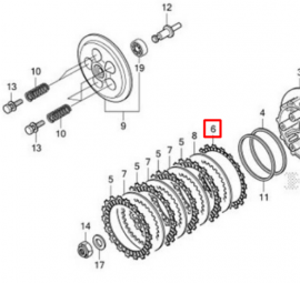 CRF250L Clutch Friction Plate (B)