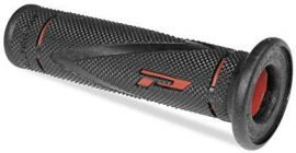 Pro Grip 838 Dual Density Trials Grips-Black/Red