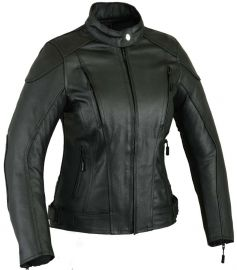 Ladies Leather Motorbike Protection Jacket