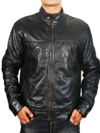 Mens Fashion  Soft Real Leather Jacket