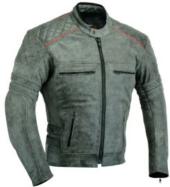 Soft Motorbike Leather Protective Jacket