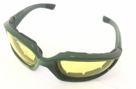 Old School Series Sunglasses-Green-Yellow