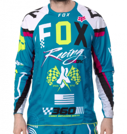 Fox 360 Rohr Jersey-Blue-XL