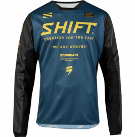 Shift Syndicate Whit3 Label Jersey - Navy Yellow