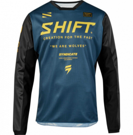 Shift Syndicate Whit3 Label Jersey - Navy Yellow-L