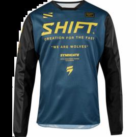 Shift Syndicate Whit3 Label Jersey - Navy Yellow-XL