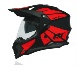 Yohe Dualsport Adventure Helmet (Matt Black/Red)