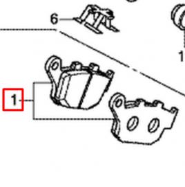 Rear Brake Pads Set Honda CB500x