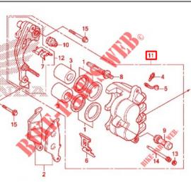 Front Brake Caliper, Honda XR150l