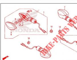 Winker Assy Right, Honda CB500x