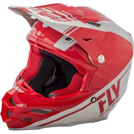 Fly 2018 F2 Carbon Rewire Dirt Helmet-Red/Grey-Large
