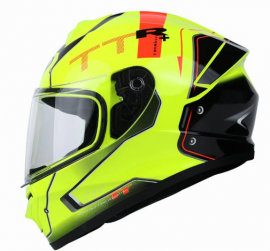 Yohe 977 Full-Face Helmet (Black Yellow)