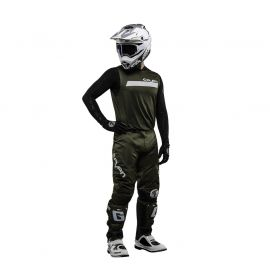 Seven MX 18.2 Zero Adult Neo Jersey and Pants Set 34/XL (Olive/White)