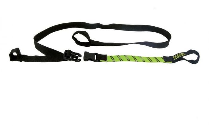 """ADJUSTABLE BACKPACKER TRAVELING ROK STRAPS 12/"""" to 42/"""" LUGGAGE BUNGEE TWIN PACK"""